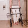 Page Wohnraum-Rollator  Anthrazit -  Handbremse - Stütze bei Toilettengang