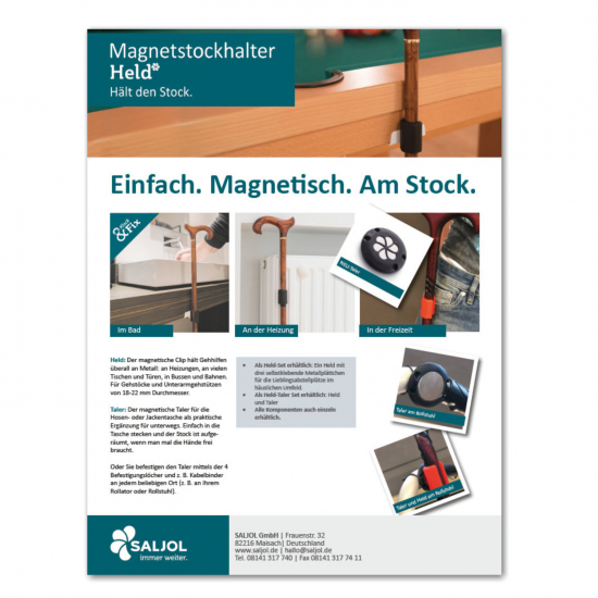 Produtkarte Magnetstockhalter