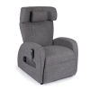 Club1 Riser Chair Gray - cut out: front view