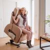 Club1 Riser Chair Beige - stand-up