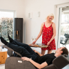 Club3 Riser Chair Gray - heart-balance-position side view