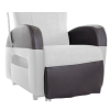Club Riser Arrmchair Leatherette- zoom - detail: protective seat covers