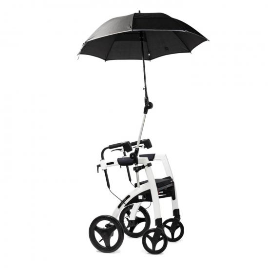 Rollz Motion Weiß - Rollstuhl Rollator -Detail: Regenschirm offen - Freisteller
