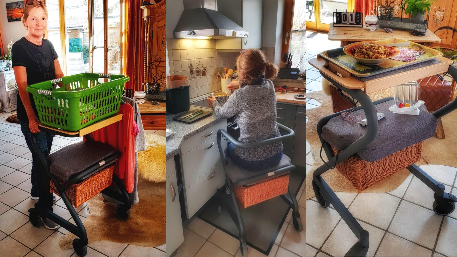 Wohnraum-Rollator Page Alltagshelfer