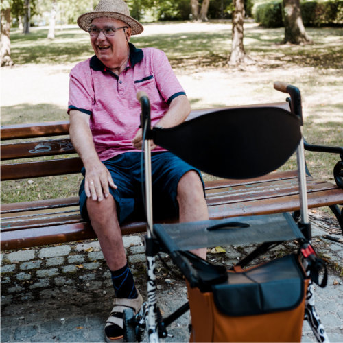 Carbon Rollator - treat yourself to breaks
