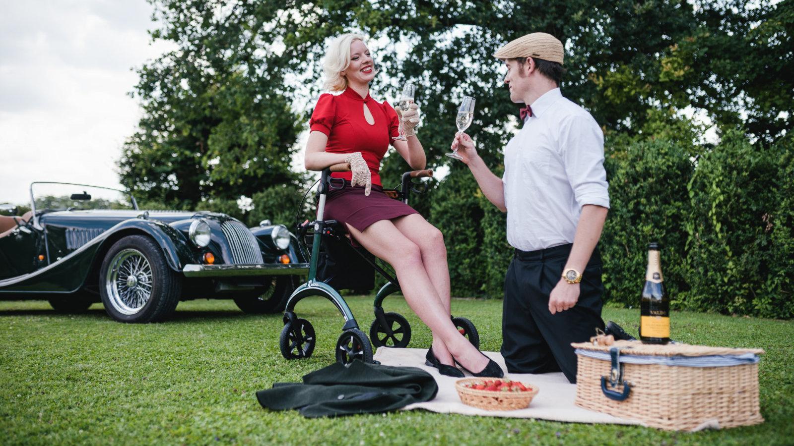 Carbon Rollator - picnic