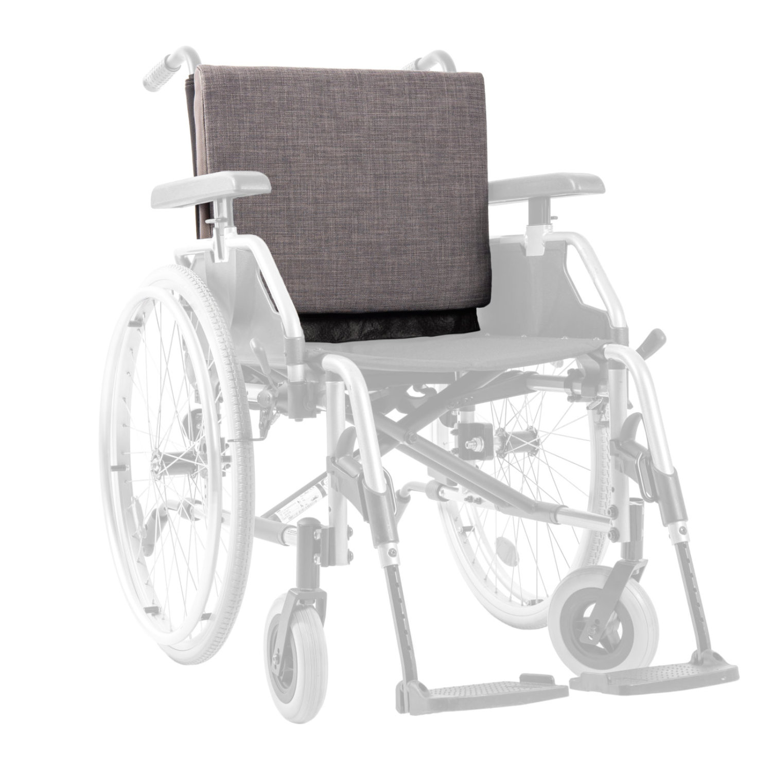 Extra wheelchair cushion gray - wheelchair back cushion