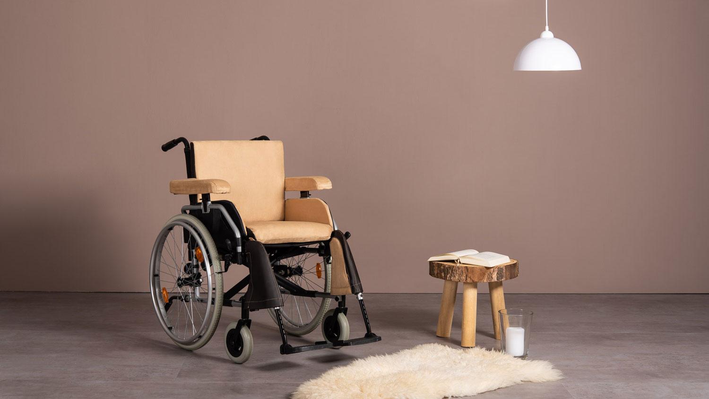 Beige Rollstuhlkissen