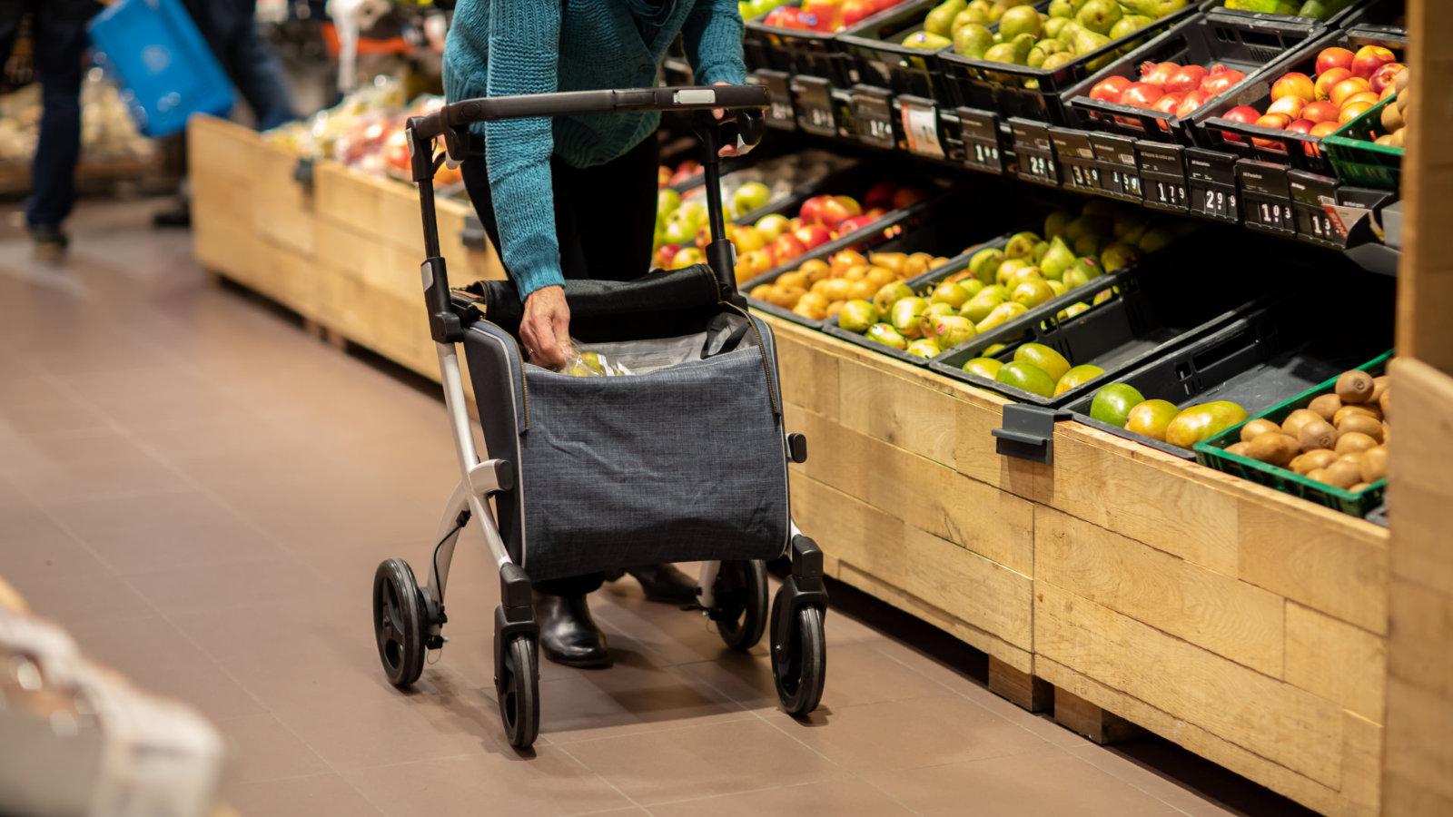 Rollz Flex - Einkaufsrollator - Im Supermarkt