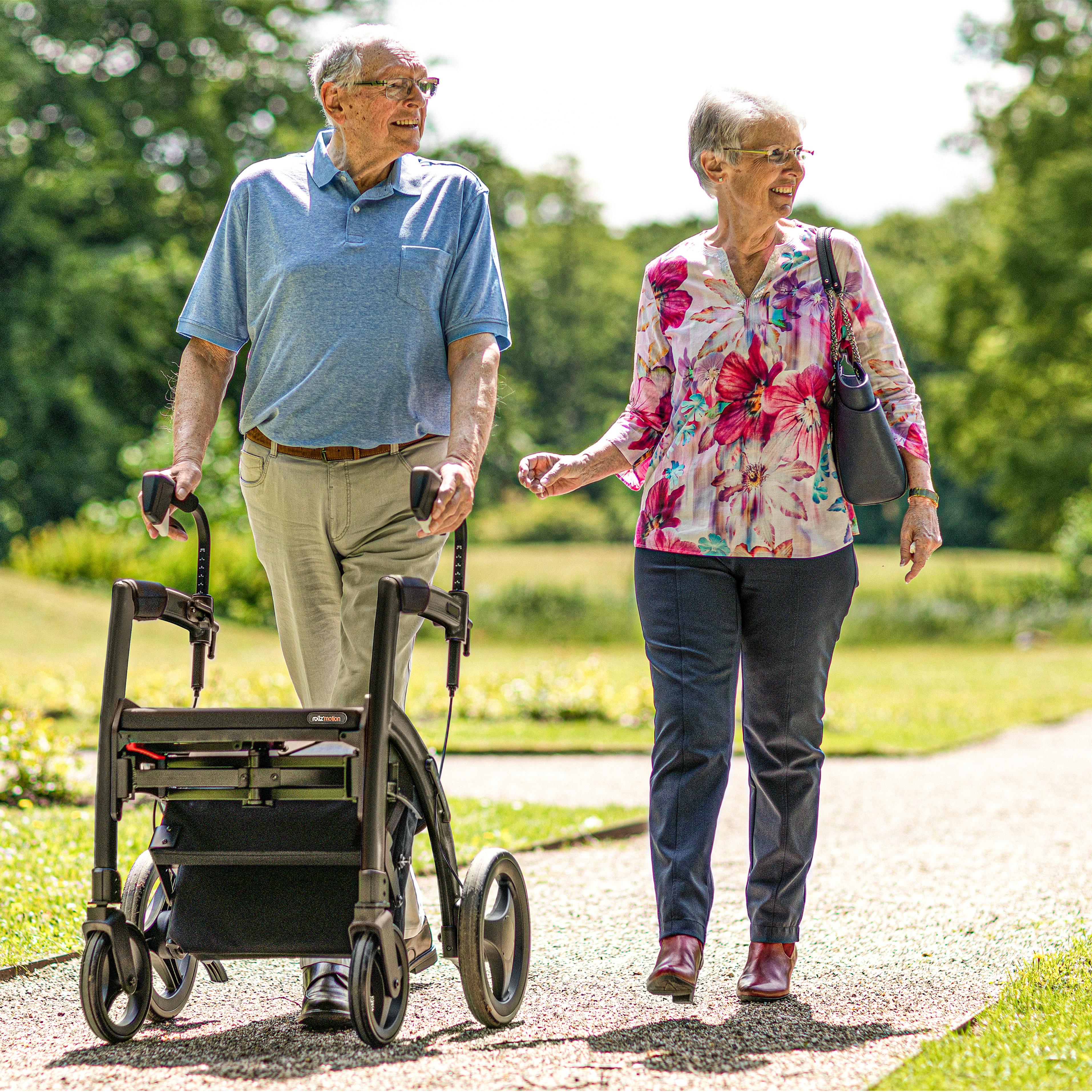 Parkinson Rollator für ein flüssiges Gangbild