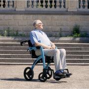 Rollz Motion² Blau - Rollator Rollstuhl