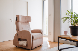 Club1 Riser Chair Beige - sitting position only riser chair