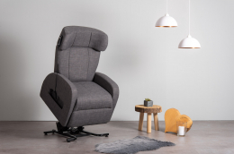 Club1 Riser Chair Gray - stand-up-position front view