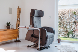 Club2 Riser Chair Gray - side view - lift up
