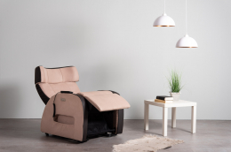 Club3 Riser Chair Beige - front view lying