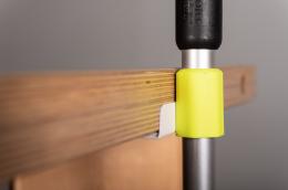 Komplettset Held  - Magnetstockhalter Neongelb - Zoom - Tischkante
