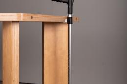 Komplettset Held  - Magnetstockhalter Schwarz - Tischkante