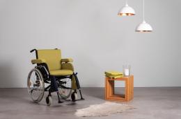 Extra Rollstuhlkissen Grün - Front Ansicht