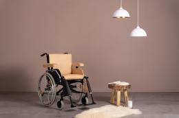 Extra Rollstuhlkissen Beige - Front Ansicht