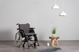 Extra Wheelchair Upholstery and cushion Gray - front view