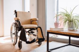Extra Rollstuhlkissen Beige - Nahansicht von vorne