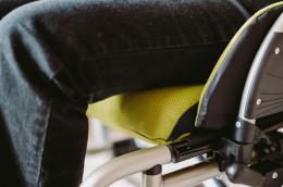 Extra Rollstuhlkissen - Detail Sitzkissen Flügel