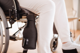 Extra Rollstuhlkissen - Detail Gamasche Trippelschutz