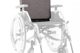 Extra Rollstuhlkissen Grau - Detail Rückenkissen