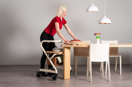 Page Tray - Page Indoor Rollator Ivory - serve on the table
