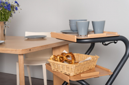 Page Tray - Page Indoor Rollator Anthrazit - serving trolley