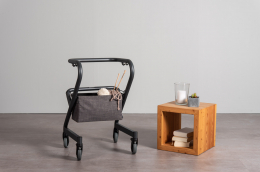 Page Bag Gray - Page Indoor Rollator Anthrazit - hang below